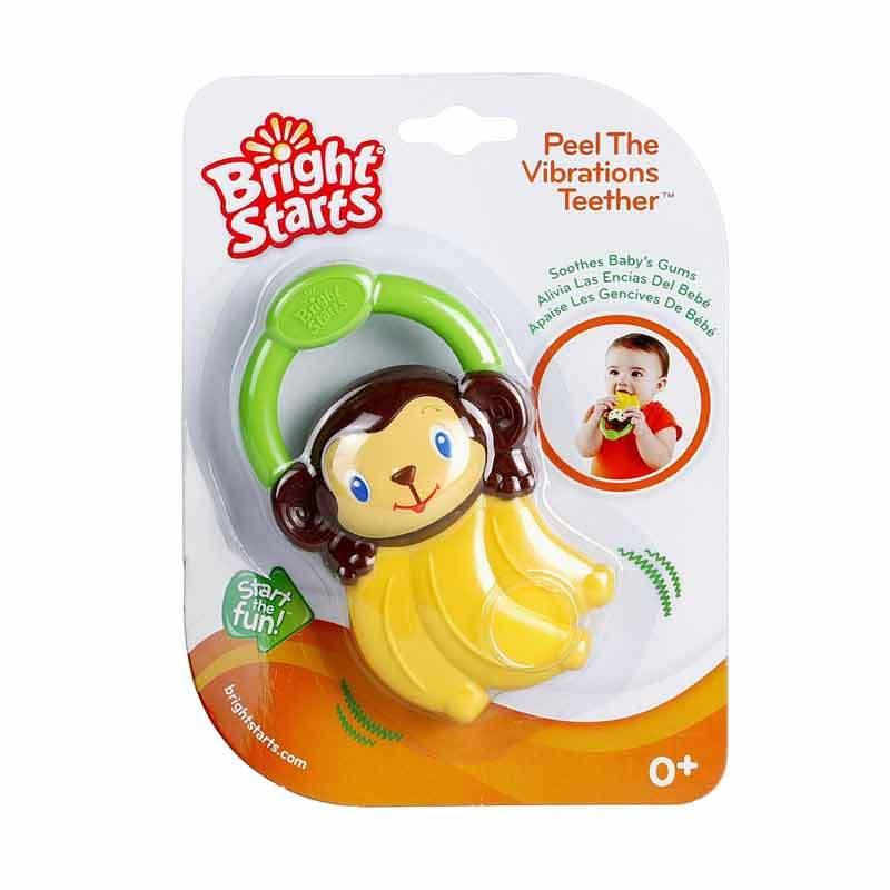 Bright Starts Peel the Vibrations & Berry Vibrating Teether - Banana (9312)
