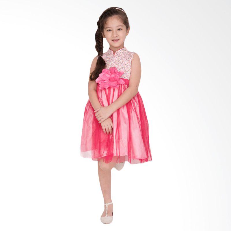 Unico Cheongsam Bunga Pink Dress Anak