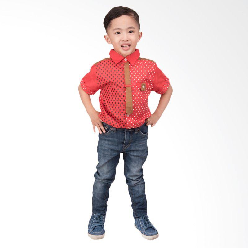 Unico Dasi Polos Merah Kemeja Anak Laki-Laki