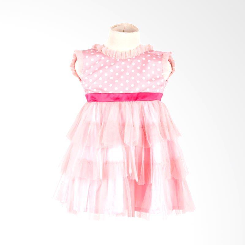 Unico Polkadot Layer Pink Dress Bayi