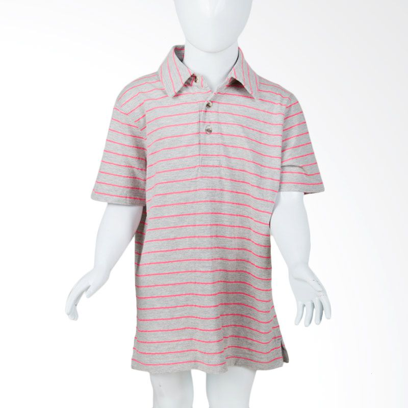 GAP G-1986 Stripes Grey Pink Atasan Anak Laki-Laki