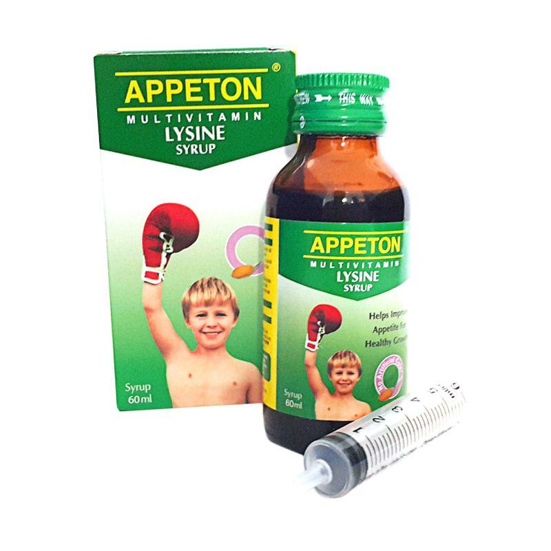 Appeton Lysine Syrup Multivitamin Anak [60 mL]
