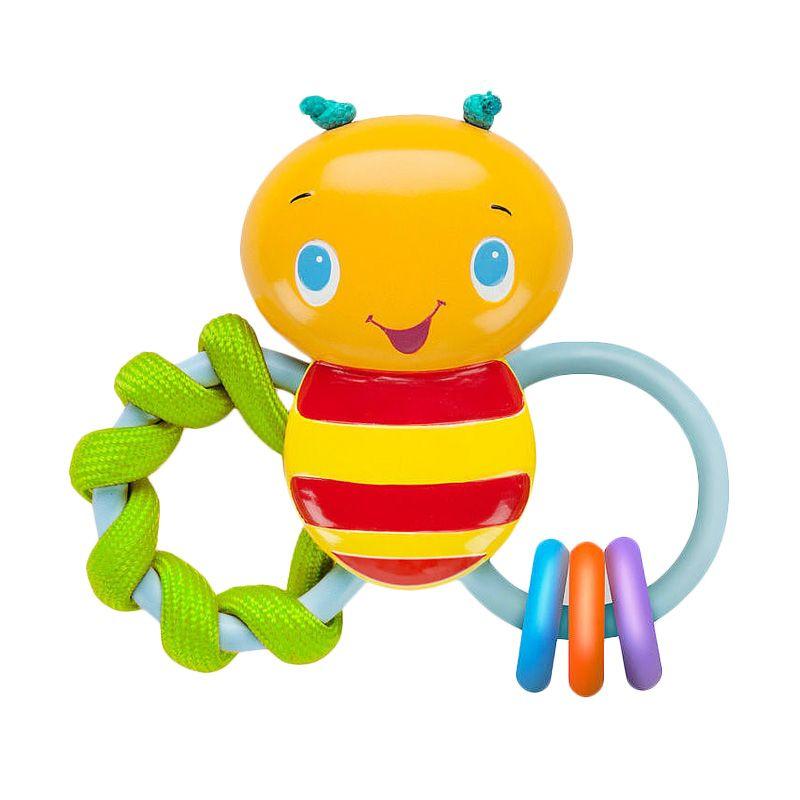 BRIGHT STARTS Chew and Rattle Bee 52025 Yellow Mainan Anak