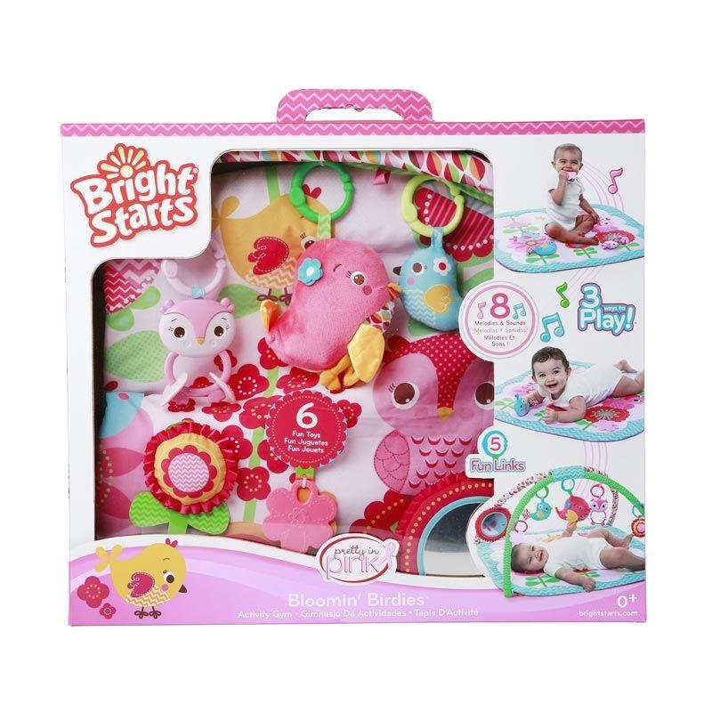 BRIGHT STARTS Pip Bloomin Birdies Activity Gym 52038 Pink Mainan Anak