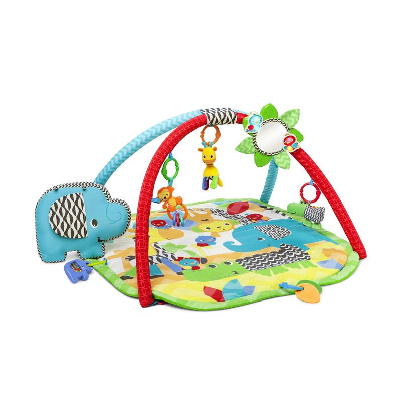 BRIGHT STARTS Sensory Safari Activity Gym 52036 Blue Mainan Anak
