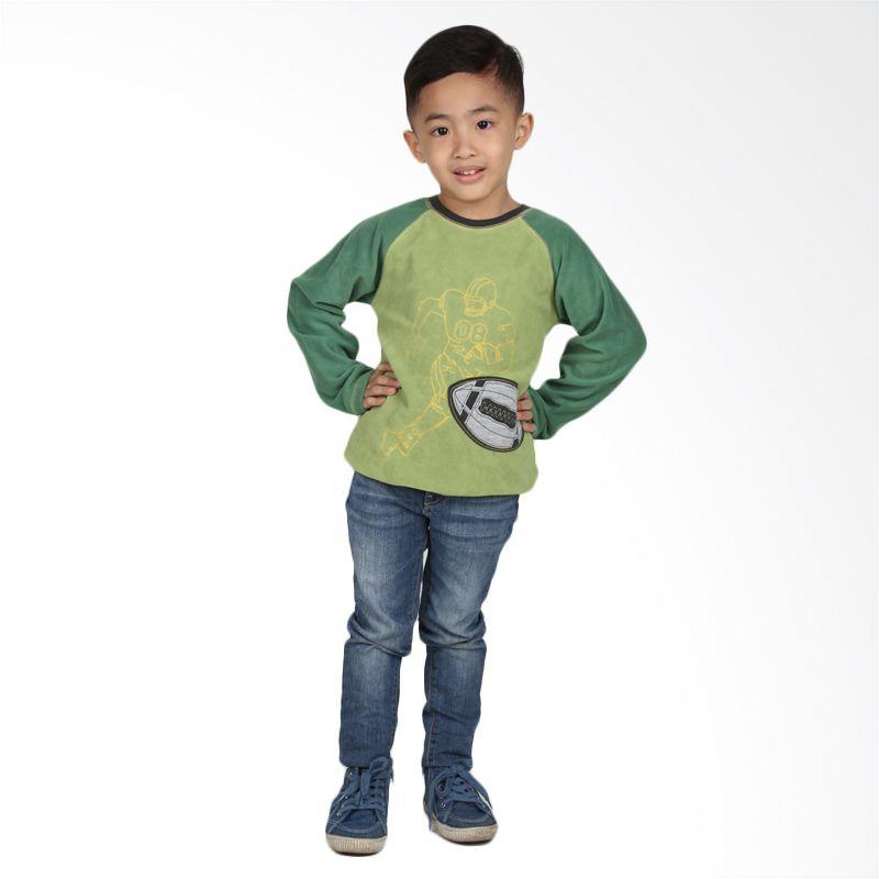 Carter's Baseball Sweater Green Atasan Anak Laki-Laki