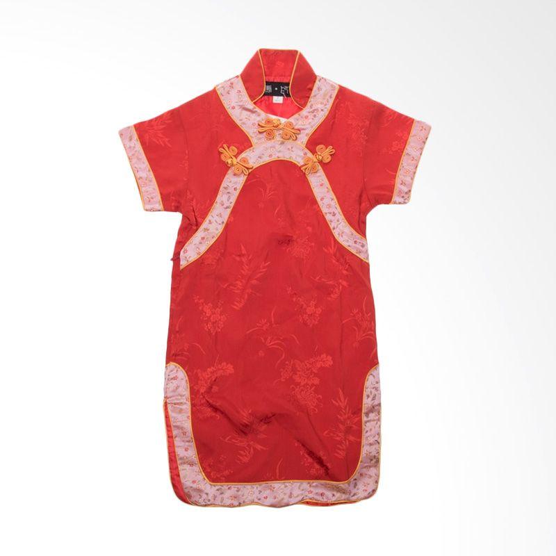 Cheongsam Pita Kuning Red Dress Anak
