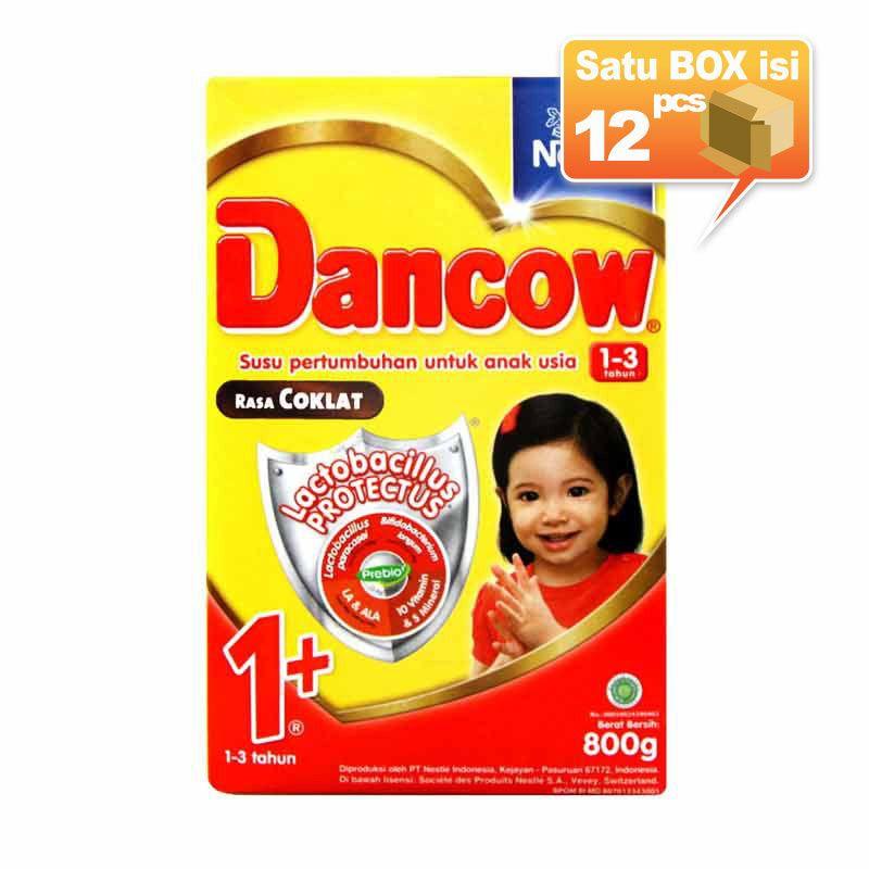 Dancow 1+ Coklat Susu Formula 800gr [12 pcs/karton]