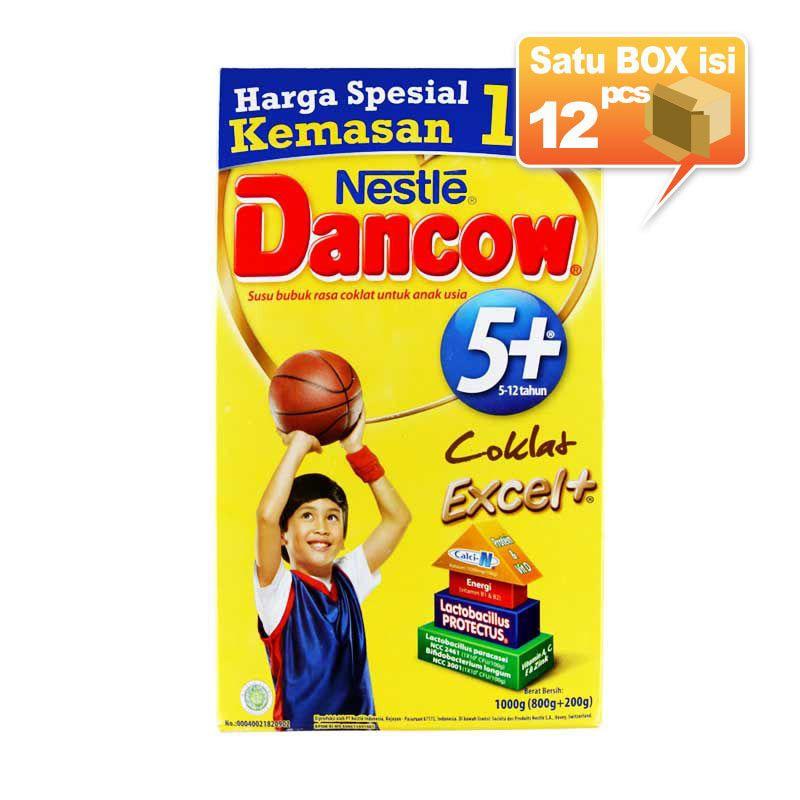 Dancow 5+ Coklat Susu Formula 1000gr [12 pcs/karton]