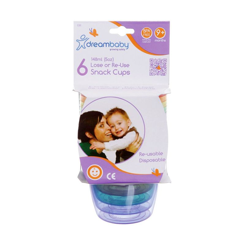 DreamBaby Lose or Reuse F.591 Snack Cups [6 Pcs]