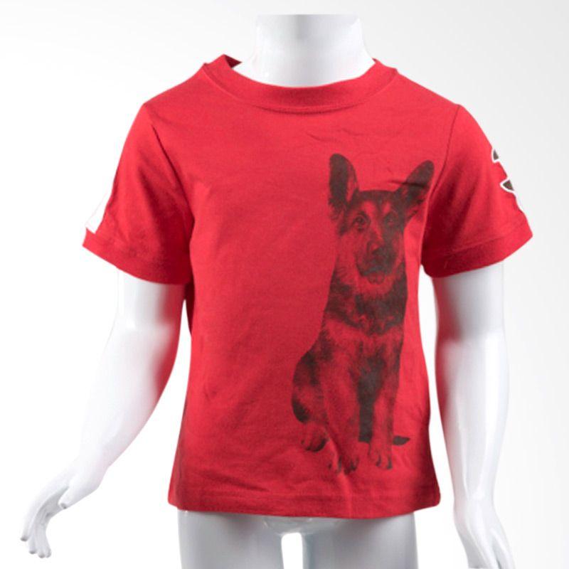 Faded Glory Dog Tee Red Atasan Anak Laki-laki