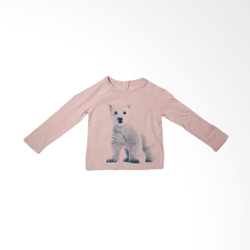 GAP Baby Tshirt Dog Pink Atasan Anak Perempuan