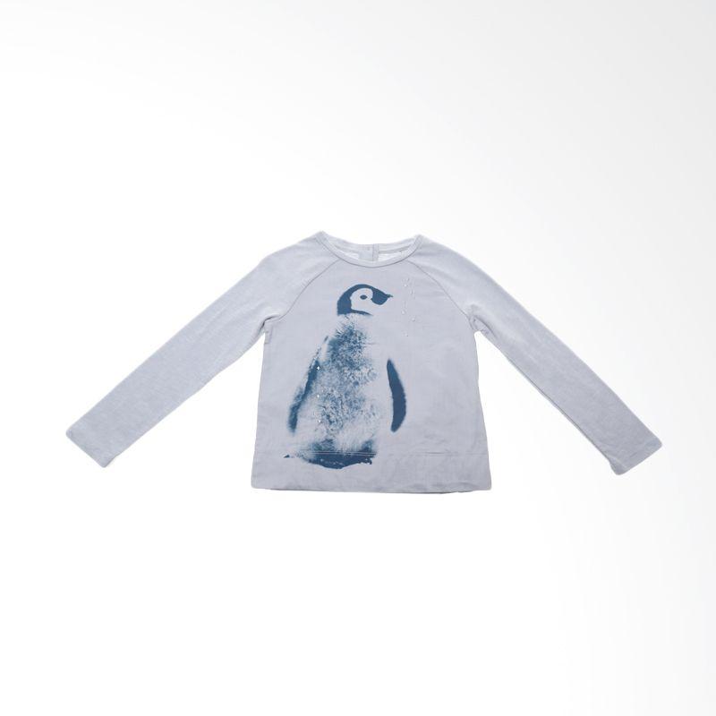 GAP Baby Tshirt Penguin Lengan Panjang Blue Atasan Anak Perempuan