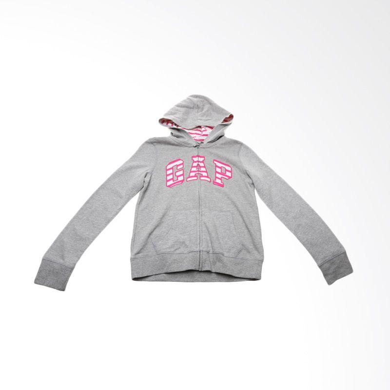 GAP Kids Grey Stripes Pink Jacket Anak Perempuan