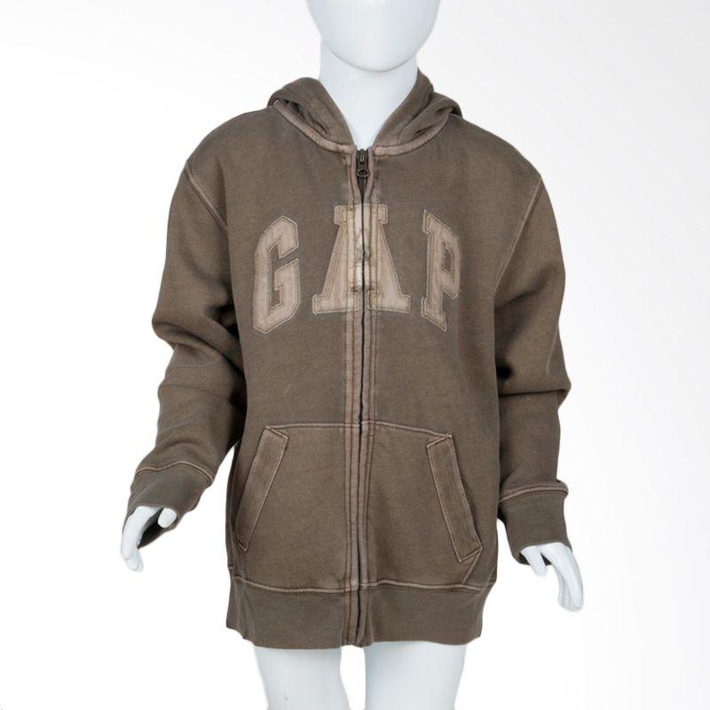Gap Kids Hoodie Army Green Jacket Anak
