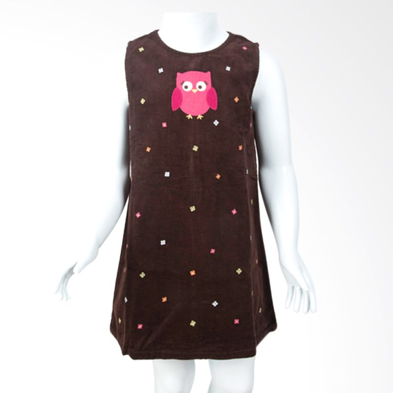 Gymboree Corduroy Owl Brown Dress Anak