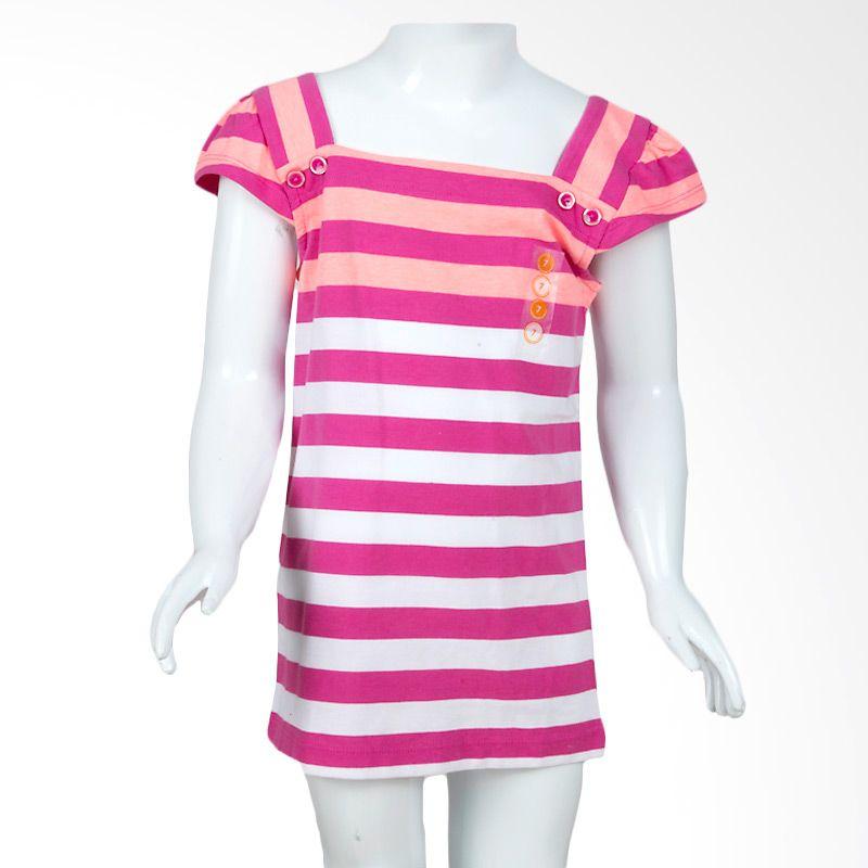 Gymboree Stripes Pink Atasan Anak Perempuan