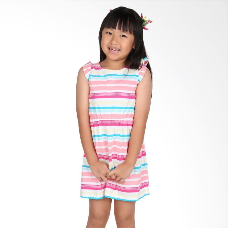 Gymboree Stripes Pita Pink Colourful Dress Anak