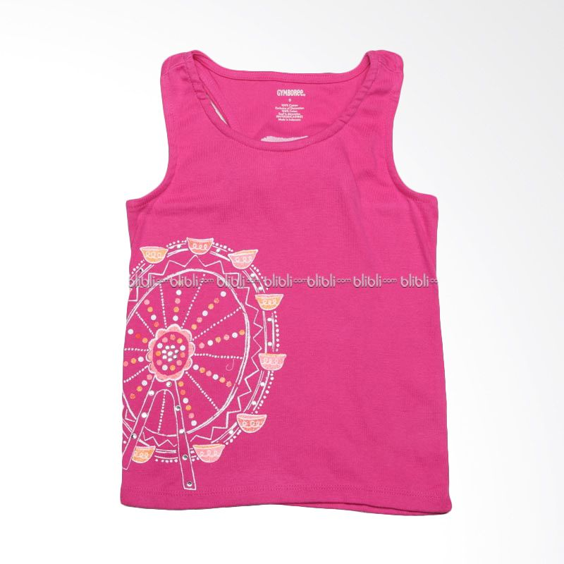 Gymboree Tank Pink Glitter Baju Atasan Anak Perempuan