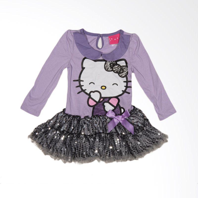 Hello Kitty Purple Dress Anak