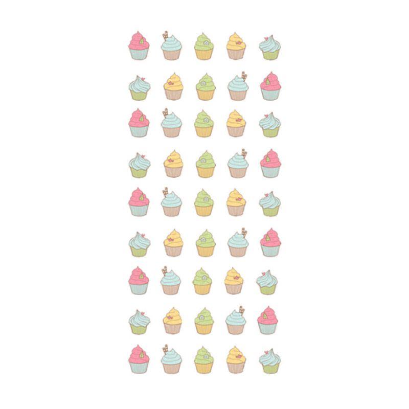 Lolitattoo Cupcake Nails LN0001 Tato Temporer