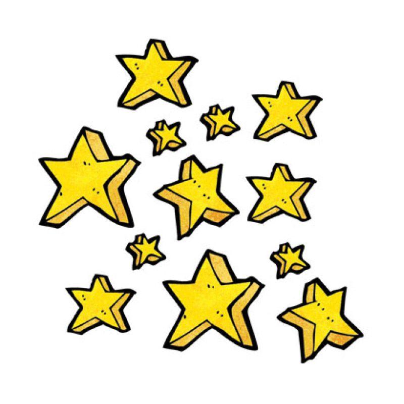 Lolitattoo Golden Star LK0356 Tato Temporer