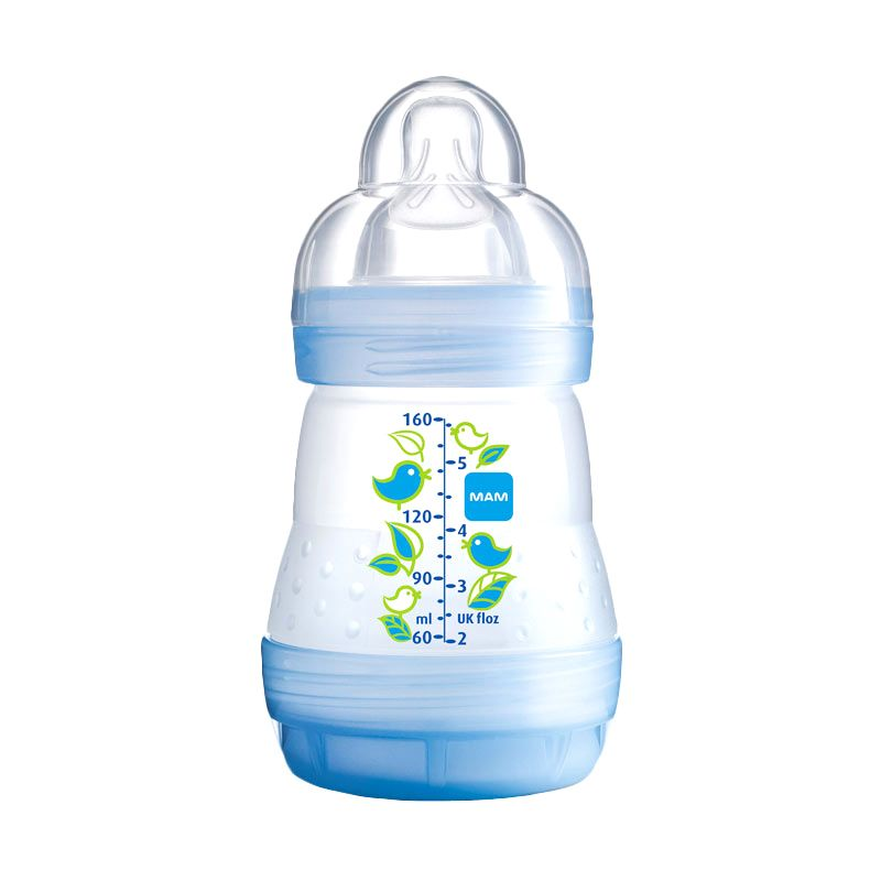 MAM Anti Colic Bottle Blue Botol Susu [160 mL]