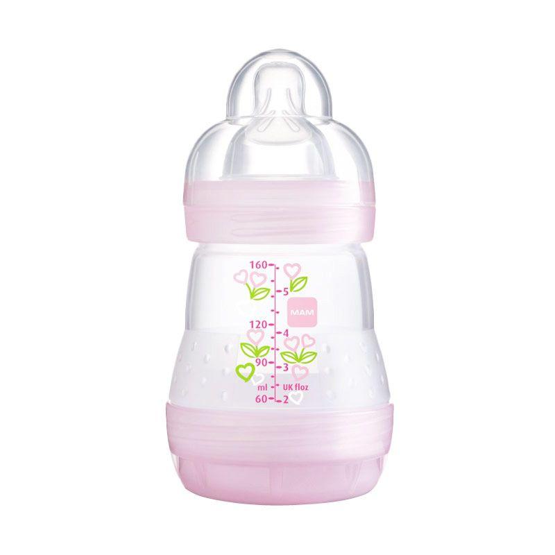 MAM Anti Colic Bottle Pink Botol Susu [160 mL]