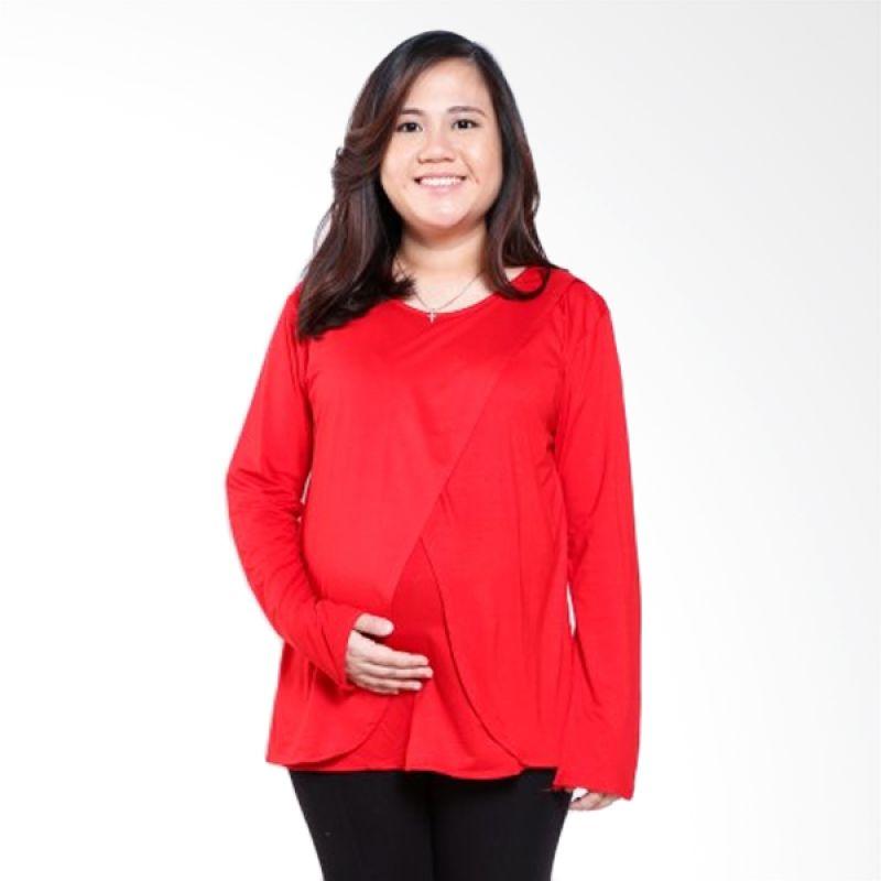 Mamigaya Tiara Merah (Tangan Panjang) Baju Hamil