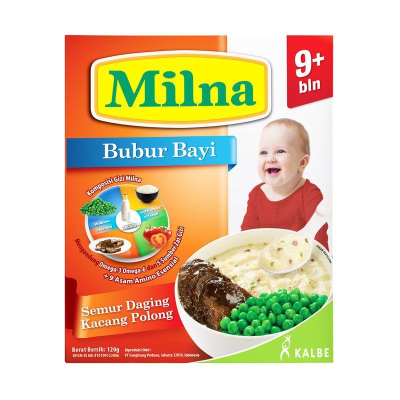 Milna 9+ Semur Daging Kacang Polong Bubur Bayi [120 g]