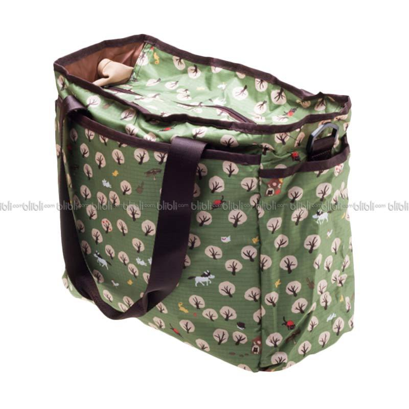 Montague Foldable Diaper Bag Green Trees