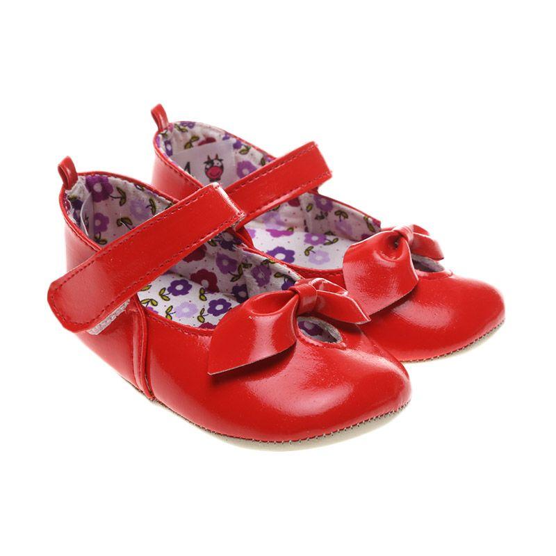 Moo's Little Cow Red Glossy Sepatu Bayi