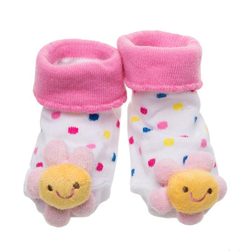 Moshiss Baby Flower 3D KS-SK05 Pink Kaos Kaki Bayi