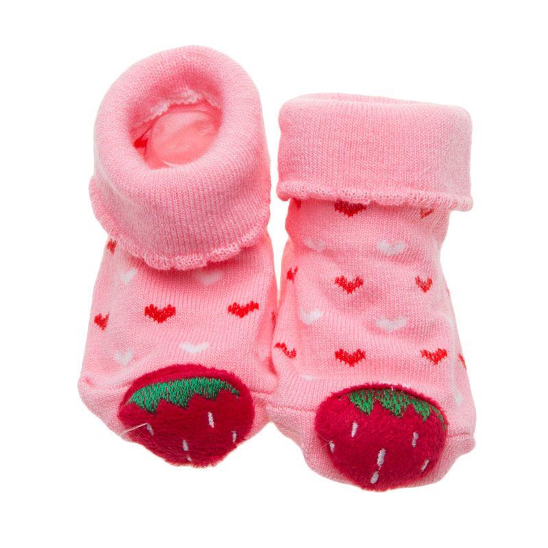 Moshiss Baby Strawberry 3D KS-SK05 Pink Kaos Kaki Bayi