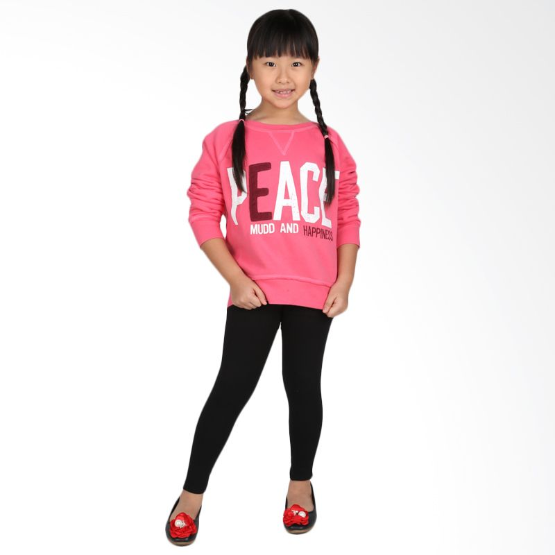 MUD Peace Pink Sweater Anak Perempuan