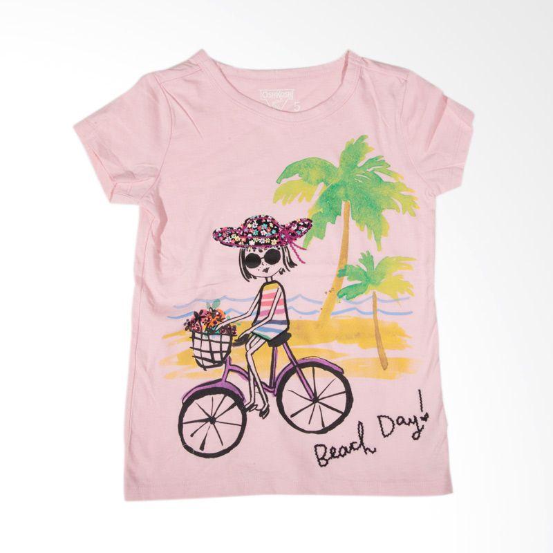 Oshkosh Beach Day BO 202 Pink Atasan Anak Perempuan