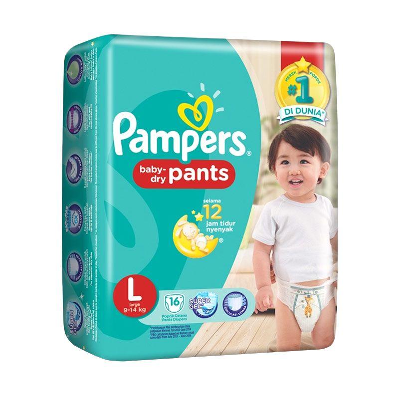 Pampers Dry Pants L Popok Bayi [16 Pcs]