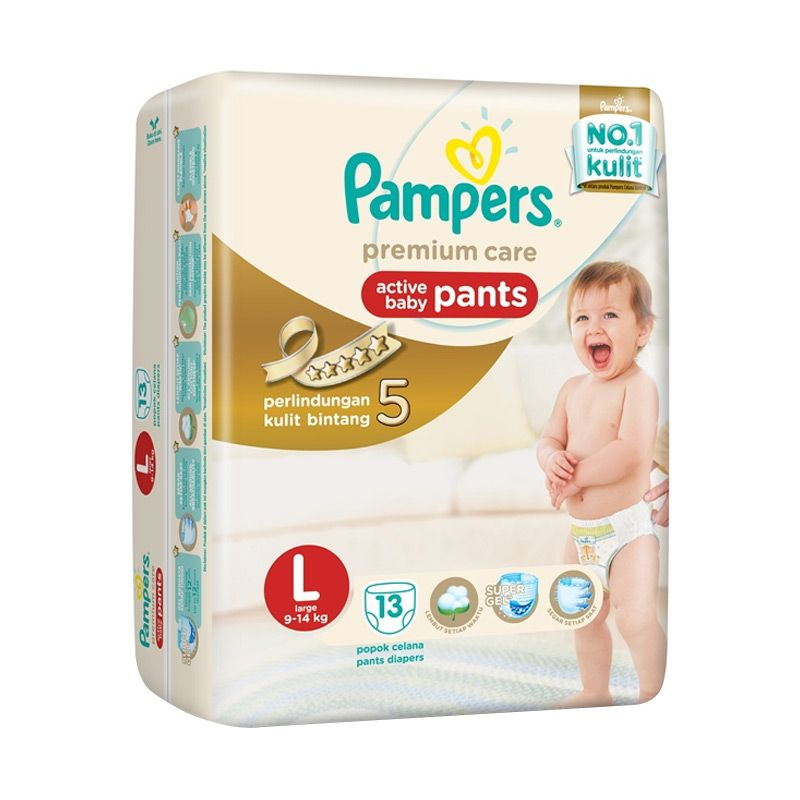Pampers Premium Care Pants L Popok Bayi [13 Pcs]