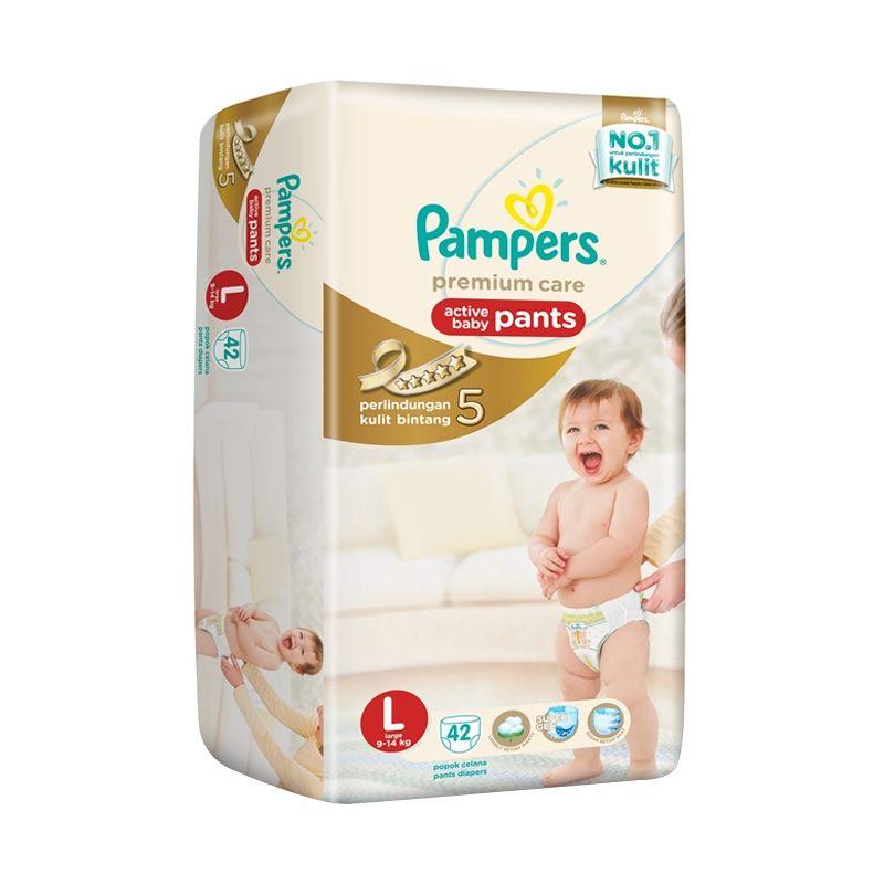 Pampers Premium Care Pants L Popok Bayi [42 Pcs]