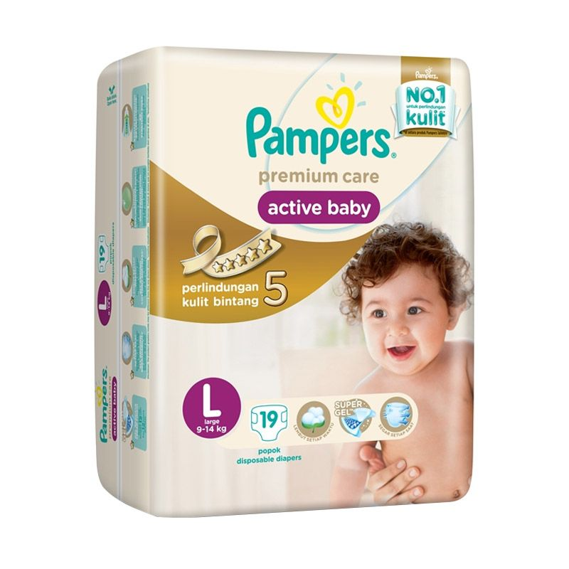 Pampers Premium Care Tapped L Popok Bayi [19 Pcs]