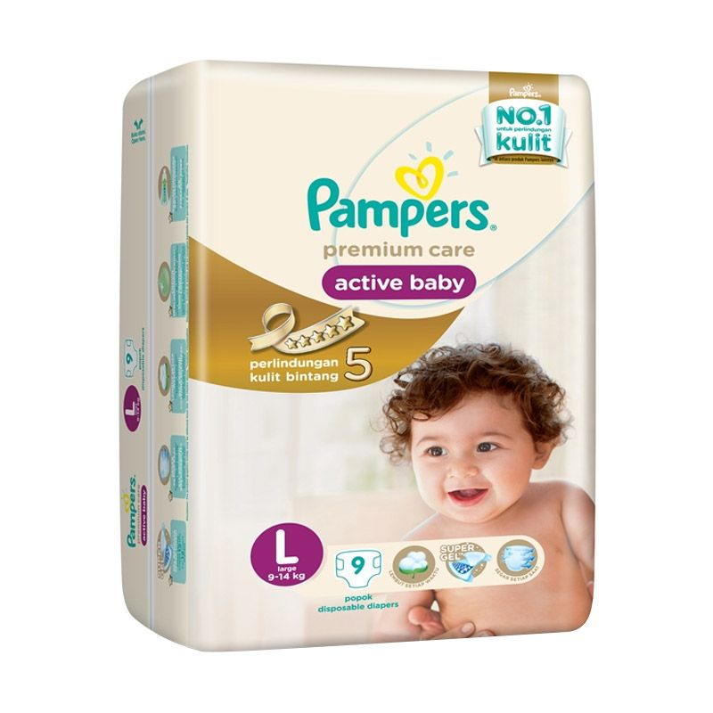 Pampers Premium Care Tapped L Popok Bayi [9 Pcs]