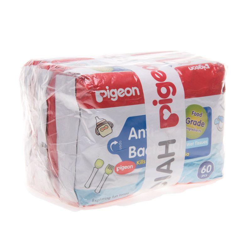 Pigeon Wipes P2 FREE Wipes AB PP040402 Tisu Basah [60 Pcs]