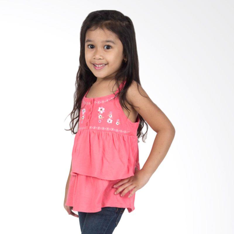 Pink Flower Dress Anak