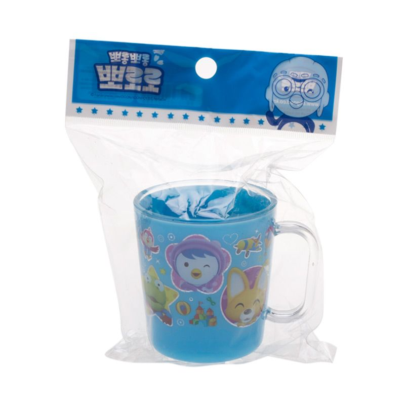 Pororo & Friends Peek a Boo Blue Cup with Handle