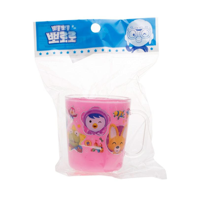 Pororo & Friends Peek a Boo Pink Cup with Handle