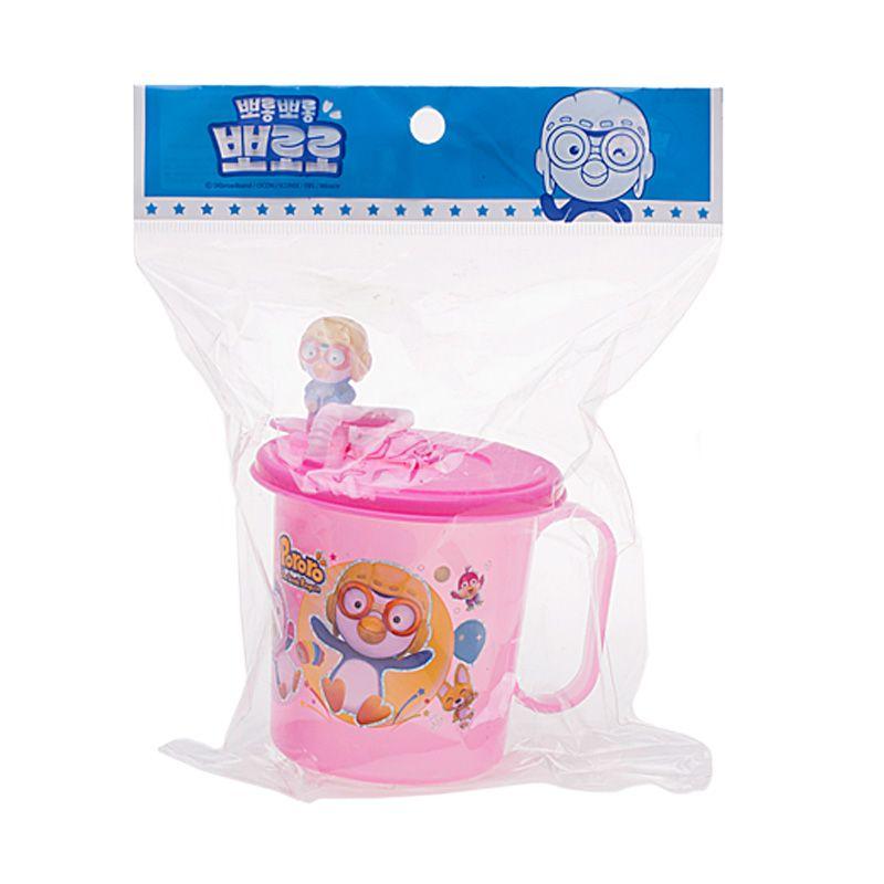 Pororo Sip Pink Toddler Cup