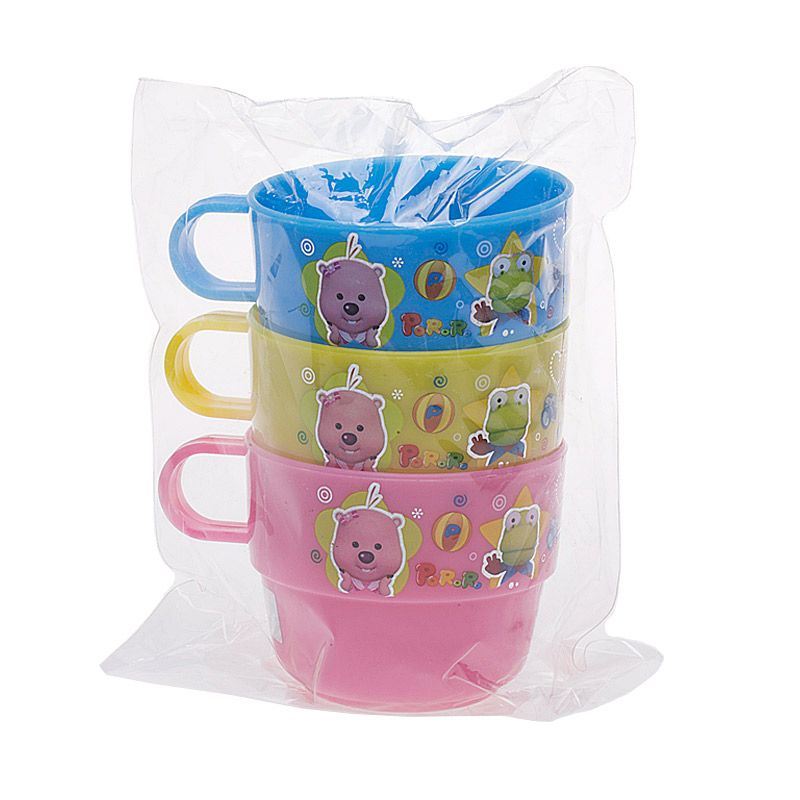 Pororo Stack Colors Toddler Cup [3 pcs]