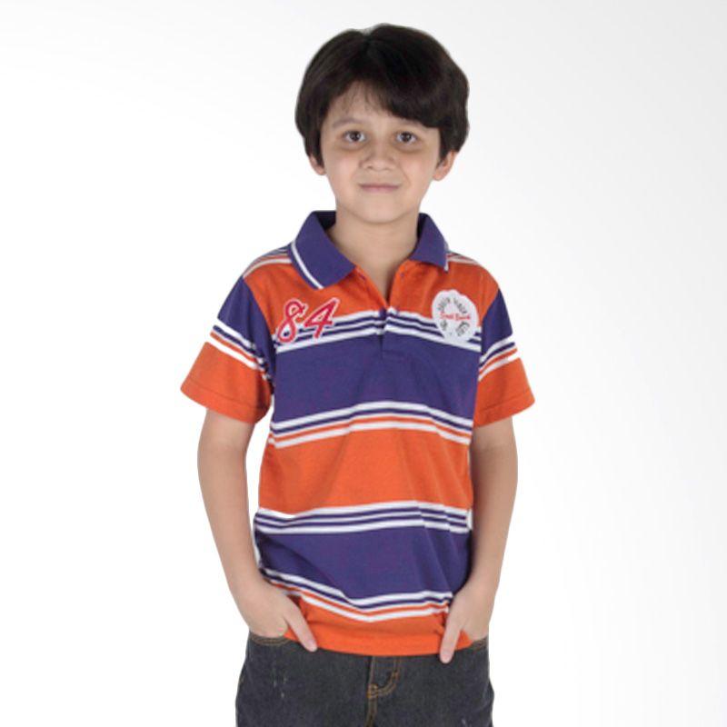 Progressive Stripes Orange Polo Shirt Anak
