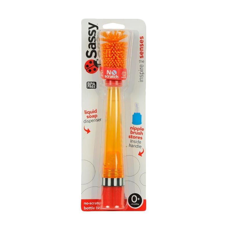 Sassy No Scratch Bottle Brush Orange 30133