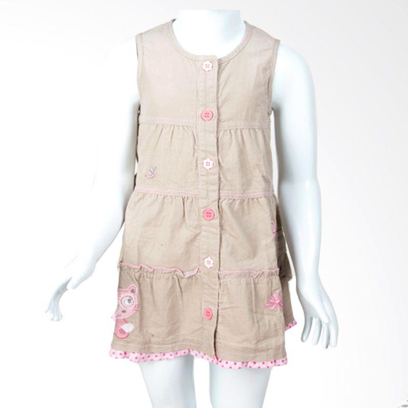 Sun-O Polka Cream Pink Dress Anak